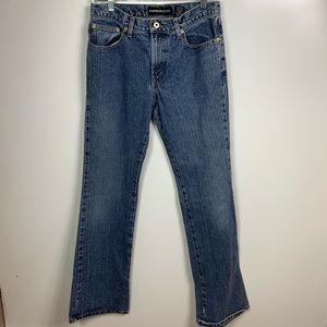 Express jeans women's  5/6 long low rise flare VTG